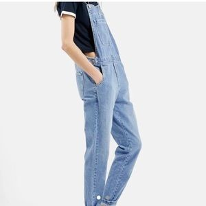 Topshop Moto Overall Straight Leg Jeans size 25